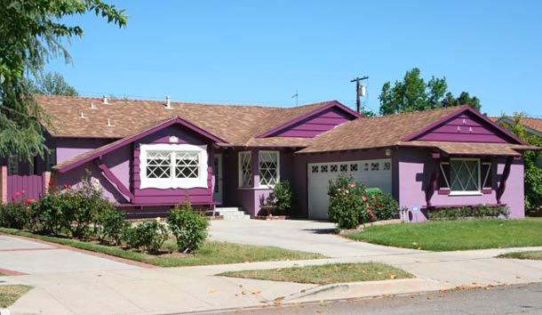 Purple Houses Photos And Ideas For Painting Decorating