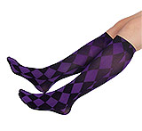 Purple Diamond Knee Highs (Trouser Socks)