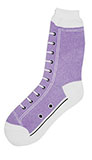 Lavender High Top Sneaker Socks