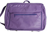 Leather Dark Purple Briefcase / 17 Laptop Bag