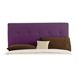 Microsuede or Velvet Purple Headboard, 5-Button Style