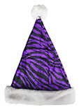 Jungle Print Purple Santa Hat