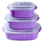 Purple Microwaveable Food Storage Containers