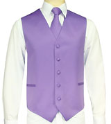 Light Purple Vest/Tie/Hankie Set