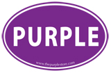 PURPLE Oval Sticker