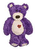 Soft Cuddly Purple Teddy Bear with Heart