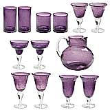 Deluxe Bubble Purple Glasses Sets