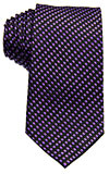 Purple Tie with Diagonal Square Details