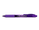 I Heart Purple Purple Pen with Purple Ink, Gel Pens