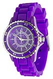 Purple Watch with Purple Band, Designed Face, and Turnable Bezel