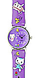 Purple Kids Watch - Kitty Watch with Happy Cats
