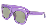 Clear Purple Sunglasses with Silver Toned Grommets
