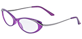 Purple Reading Glasses with Gunmetal Accent