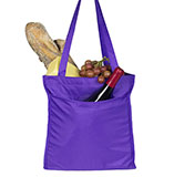 Purple Tote Bag with Pockets