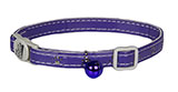 Purple Sparkle Paw Print Cat Collar