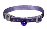Paw Print Purple Cat Collar