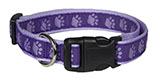 Paw Print Purple Dog Collar