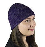 Heathered Purple Knit Beanie