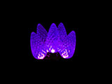 Purple Faceted Cone LED Lights - C9 - 100 lights