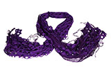 "Purple Sequin Scarf (""The Mermaid Scarf"")"