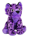 Cuddly Purple Snow Leopard