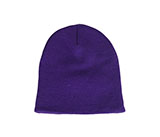 Solid Knit Purple Beanie / Hat