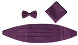Dark Mauve Cummerbund, Bowtie, and Pocket Square Set