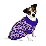 Leopard Print Purple Dog Sweater