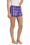 Plaid Flannel Womens Purple Boxers