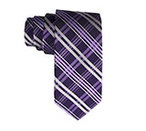 Purple Silk Criss Cross Tie