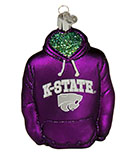 Kansas State Ornament, Purple Hoodie