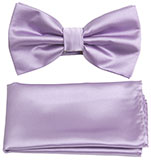 Lavender Purple Bow Tie and Hankie Set