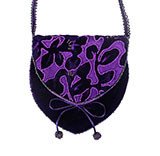 Purple Velvet Petal Beaded Bag