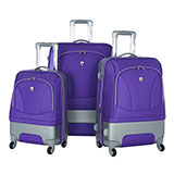 No-Hassle Purple Luggage
