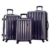 Shiny, Hard-Shell Purple Luggage