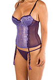 Purple Bustier with Light Purple Lace - Limited sizes left!