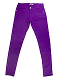 Juniors Plum Skinny Jeans with Rhinestones