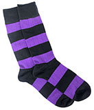 Men's Black and Purple Bars Stripe Socks