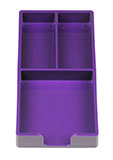 Purple Organizer Desk Tray