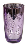Platinum Purple Drinking Glass