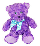 Swirl Fluffy Purple Bear