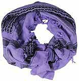 Patterned Purple Shemagh Scarf