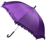 Children's Purple Ruffled Umbrella - Kids Umbrellas