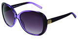 Metal Detail Purple Sunglasses