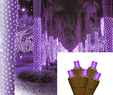 Purple LED Mesh Tree Lights - 150, Brown Cord