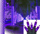 Purple LED Mesh Tree Wrap Lights - 70 Count