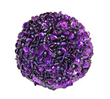 Sparkling Round Beaded Purple Christmas Ornament