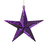 Dark Purple Star Christmas Ornament