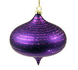 Dark Purple Top Christmas Ornament