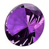 Glass Purple Jewel Amethyst Decor / Paperweight
